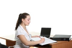 Businesswoman in the office Stock Photography