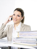 Businesswoman in office Stock Images