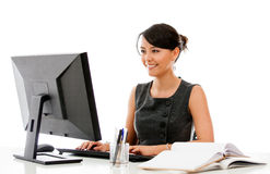Businesswoman at the office Royalty Free Stock Photo