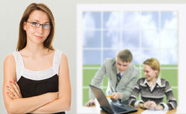 Businesswoman in a office Stock Image