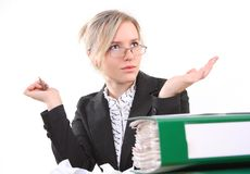 Businesswoman in office stock image