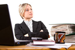 Businesswoman in office Royalty Free Stock Photography