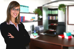 Businesswoman in office. A Business woman in Office Royalty Free Stock Photos
