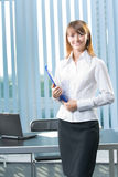 Businesswoman at office Stock Photography