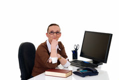 Businesswoman office Royalty Free Stock Photo