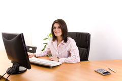 Businesswoman at the office Stock Image