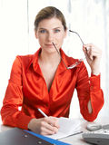Businesswoman at office Royalty Free Stock Photo