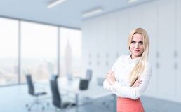 Businesswoman on office background royalty free stock images