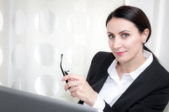 Businesswoman at the office royalty free stock image