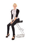 Businesswoman on office chair Royalty Free Stock Image