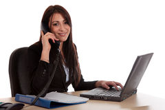 Businesswoman office desk royalty free stock image