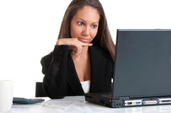 Businesswoman At Office Desk Royalty Free Stock Images