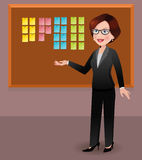 Businesswoman in office displaying sticky notes Stock Photos