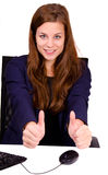 Businesswoman in the office Stock Image