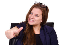 Businesswoman in the office Royalty Free Stock Photo