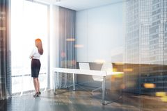Businesswoman in office interior royalty free stock image