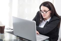 Businesswoman at the office stock photography