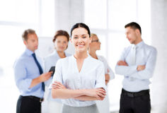 Businesswoman in office Royalty Free Stock Image