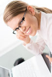 Businesswoman in the office Royalty Free Stock Image
