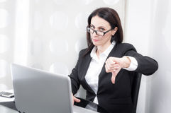 Businesswoman at the office Stock Images