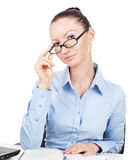 Businesswoman  at office Royalty Free Stock Photos