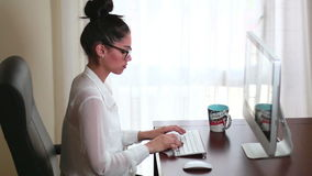 Businesswoman Office Working 02 Royalty Free Stock Photography