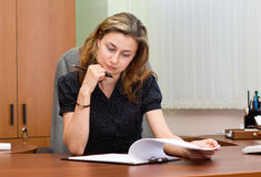 Businesswoman On A Workplace Stock Photos