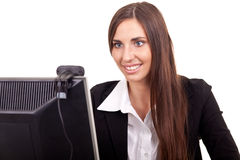Businesswoman - online conference Royalty Free Stock Images