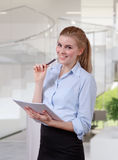 Businesswoman organizing document Stock Photos
