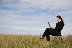 Businesswoman outdoor royalty free stock images