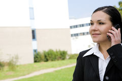 Businesswoman outdoor Royalty Free Stock Photography
