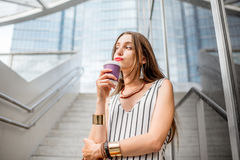 Businesswoman outdoors in the city Stock Image