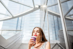 Businesswoman outdoors in the city Stock Photography