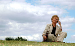 businesswoman outdoors senior Στοκ φωτογραφίες με δικαίωμα ελεύθερης χρήσης