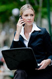 Businesswoman Outside Royalty Free Stock Images
