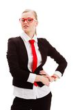Businesswoman over white Stock Images