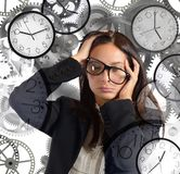 Businesswoman overload appointments Royalty Free Stock Image