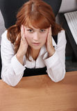 Businesswoman pain Royalty Free Stock Photos