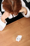 Businesswoman pain Stock Photography
