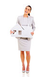 Businesswoman paper house Stock Images