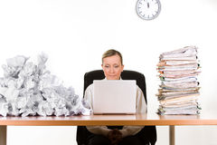 Businesswoman with paperwork Stock Photography