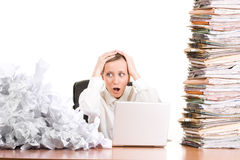Businesswoman with paperwork Royalty Free Stock Photos