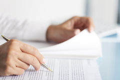 Businesswoman Paperwork Stock Photography
