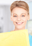 Businesswoman with parcel Royalty Free Stock Photos