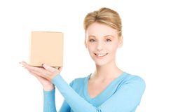 Businesswoman with parcel Stock Photography