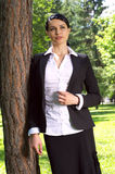 Businesswoman in the park Stock Photos