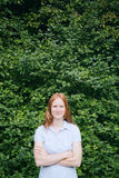 Businesswoman in a Park Stock Photo