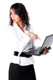 Businesswoman with PC Stock Image