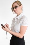 Businesswoman with pda Royalty Free Stock Image
