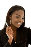 Businesswoman with a pen Stock Photos